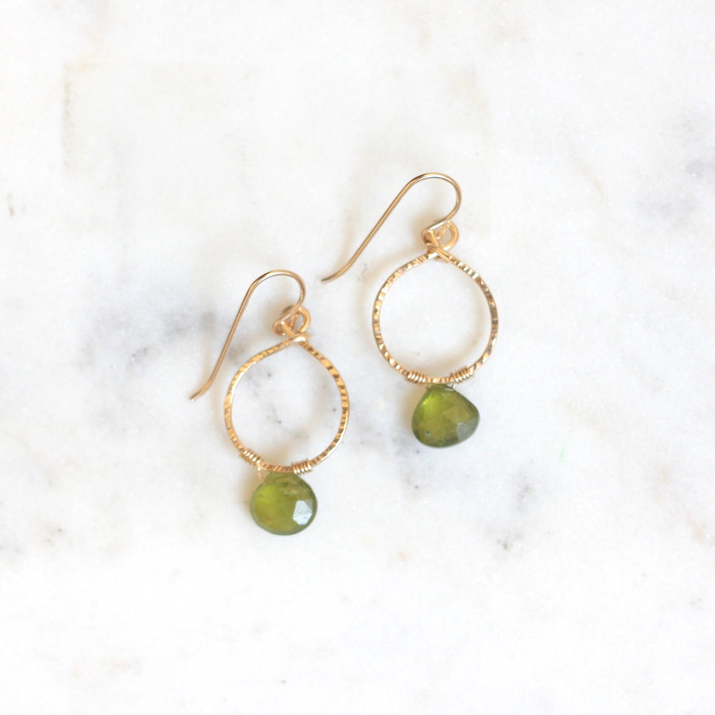Emma Hoops - Vessuvianite - Amelia Lawrence Jewelry