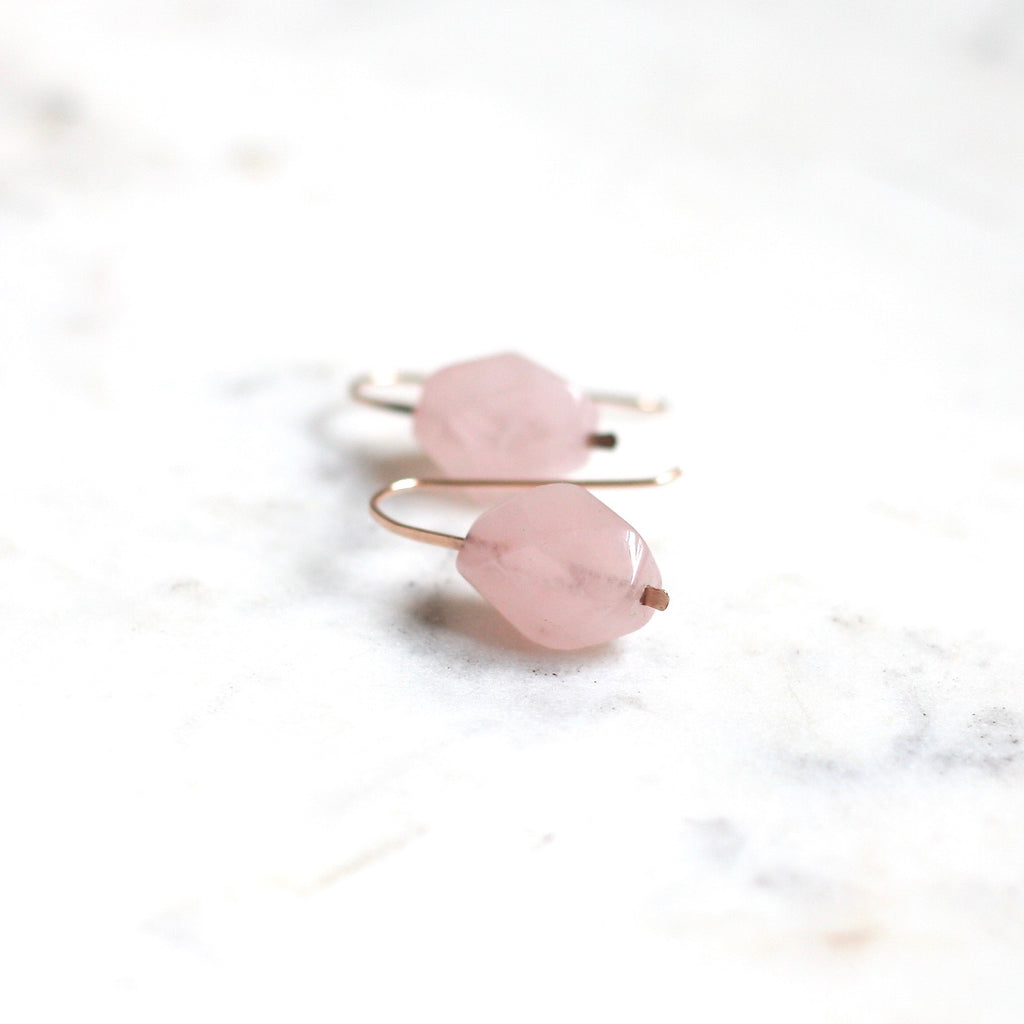 Purity Earrings - Rose Quartz WS - Amelia Lawrence Jewelry