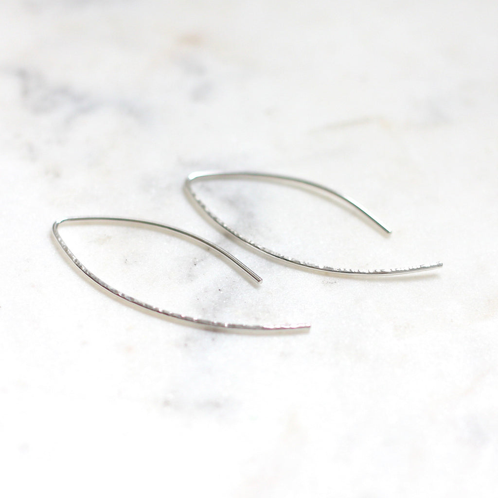 Marquise Hoops - Amelia Lawrence Jewelry