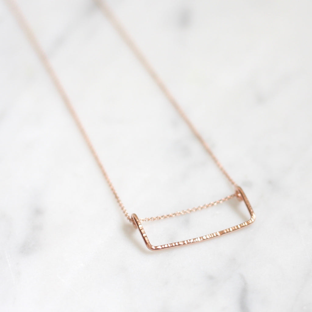 August Necklace - Rectangle - Amelia Lawrence Jewelry