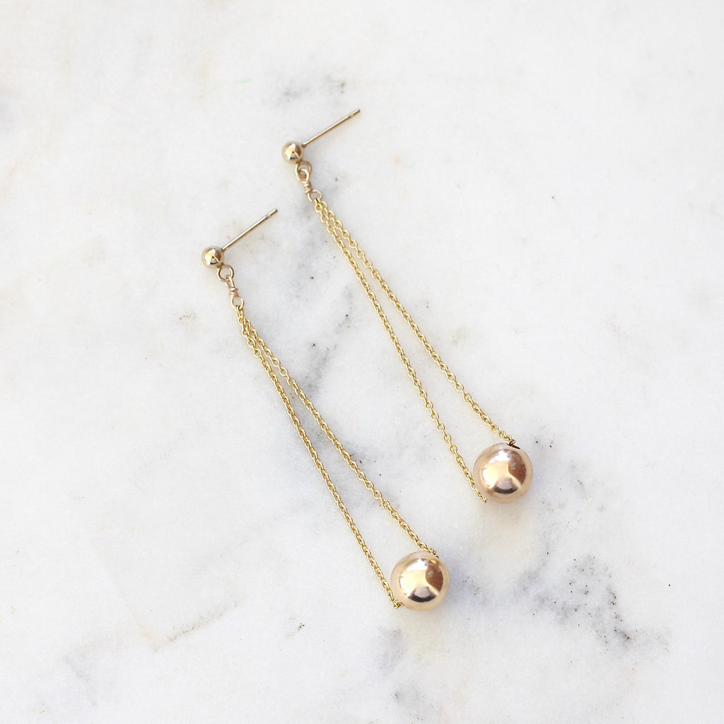 Around the Globe Dangle Earrings - Amelia Lawrence Jewelry