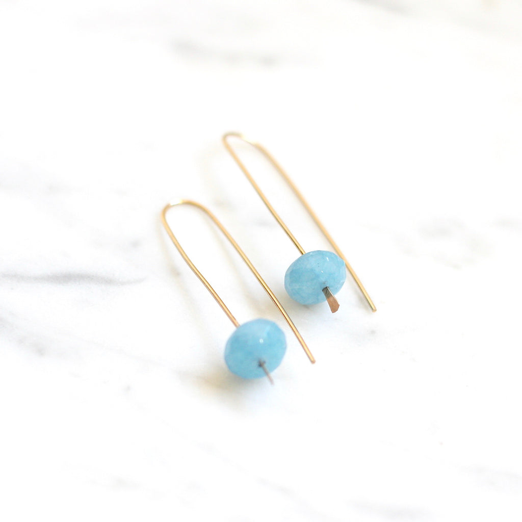Meline Earrings - Blue Quartz - Amelia Lawrence Jewelry