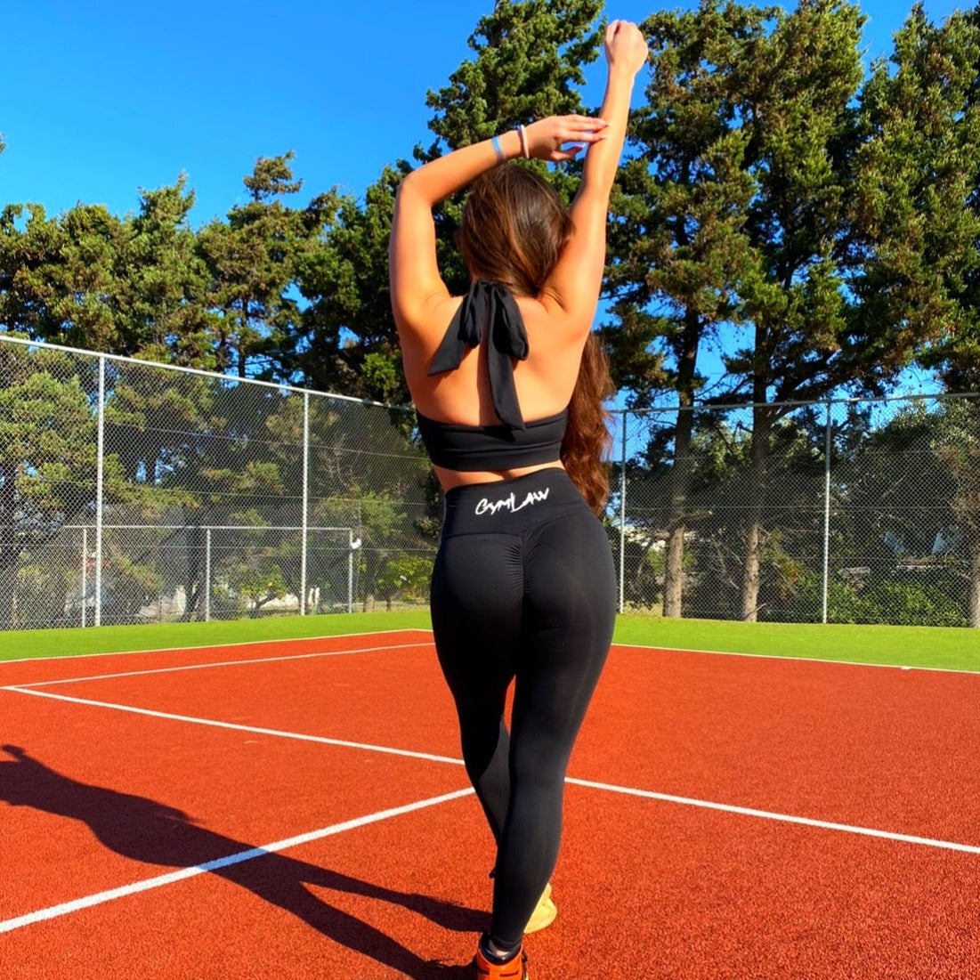 Onyx Black Allure Halterneck Sports Bra