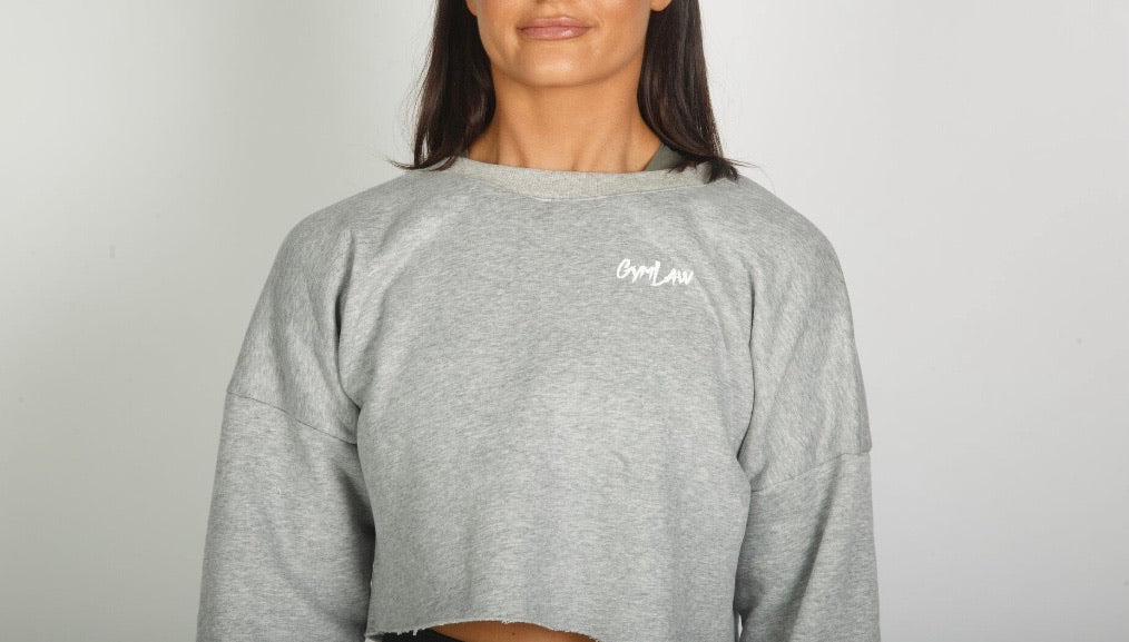 Light Grey Crop Sweat