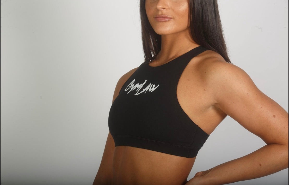 Black 'Speed' Sports Bra