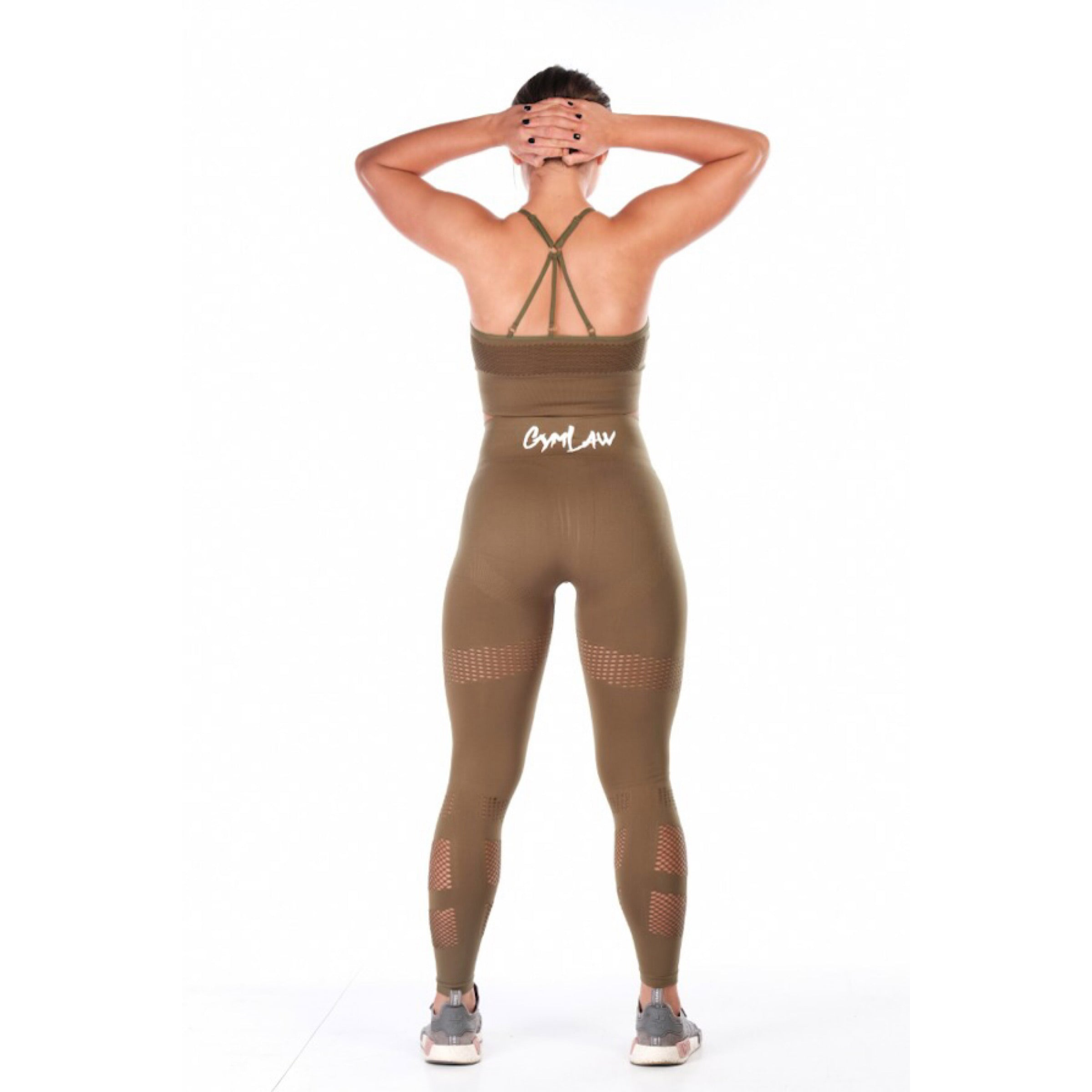 Exclusive Khaki 'ASAV' Leggings