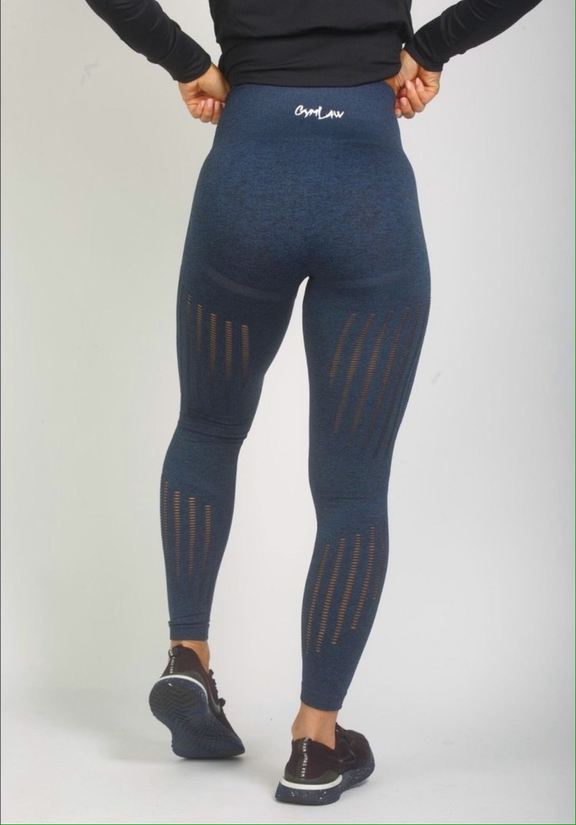 Navy 'Drive' Seamless Leggings