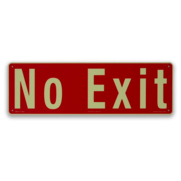 Ecoglo No Exit sign