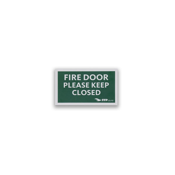 Fire Door - Please Keep Closed Sign