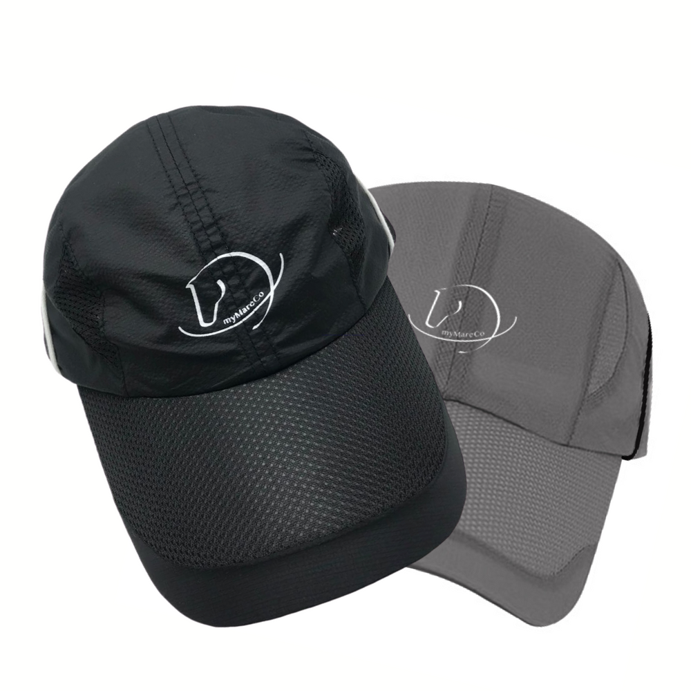Quick Dry Unstructured and Foldable Sports Hat:  BLACK or GREY