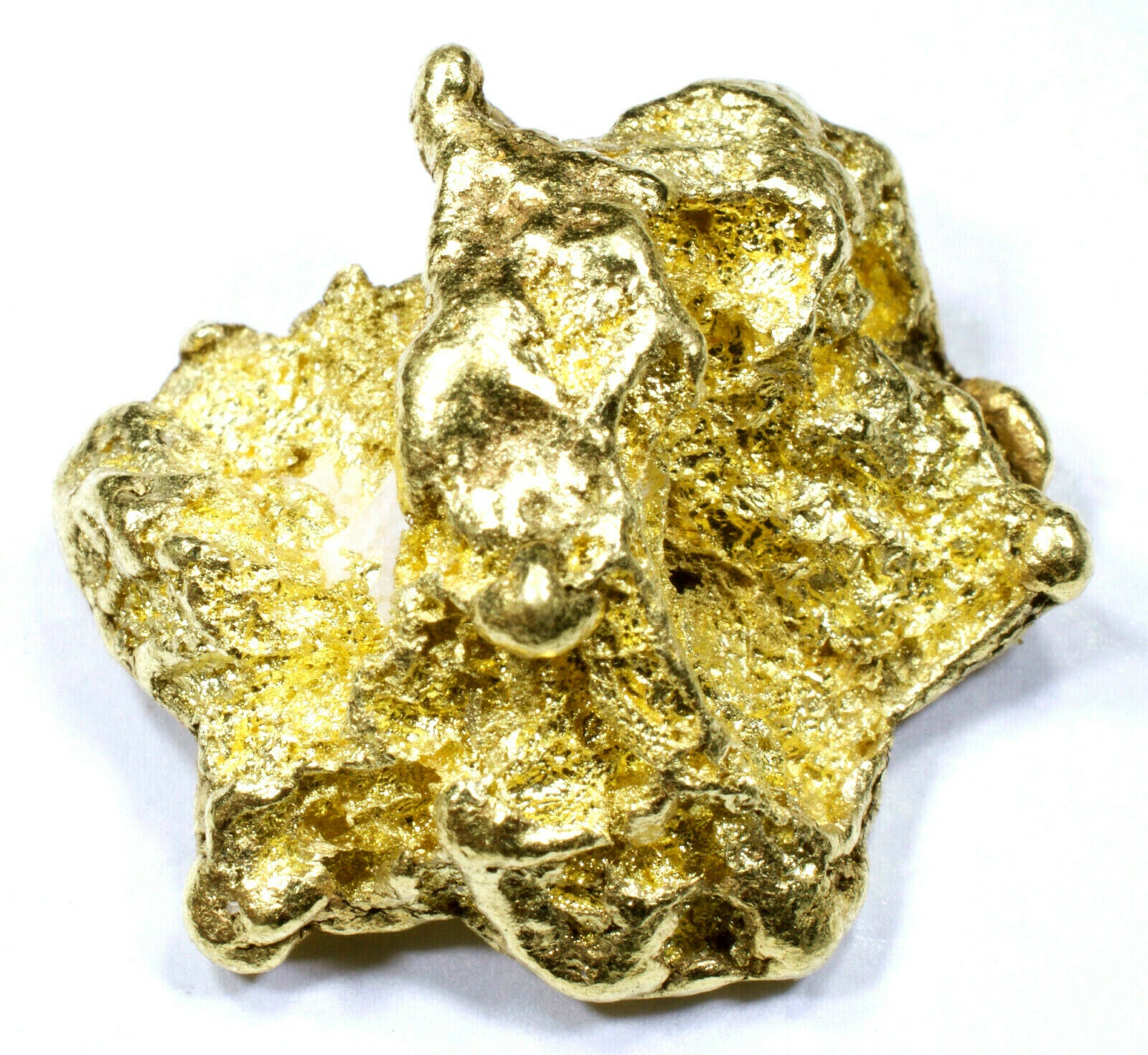 12.822 GRAMS ALASKAN YUKON NATURAL PURE GOLD NUGGET GENUINE (#N811) B GRADE