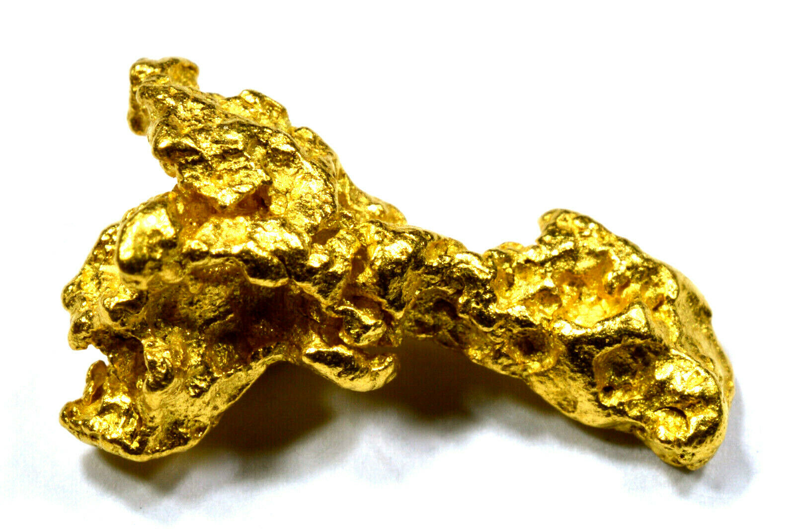 1.552 GRAMS AUSTRALIAN NATURAL PURE GOLD NUGGET GENUINE 94-98% PURE (#AU600)