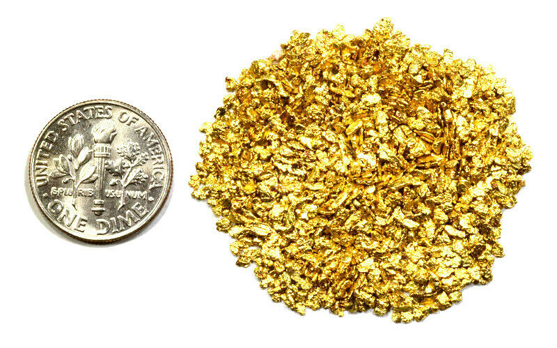 0.500 GRAMS ALASKAN YUKON BC NATURAL PURE GOLD NUGGETS #16 MESH - Liquidbullion