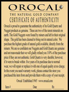 "Gold Nugget Pendant ""Orocal"" PN1099N Genuine Hand Crafted Jewelry - 14K Gold Yellow Gold Casting - Liquidbullion"