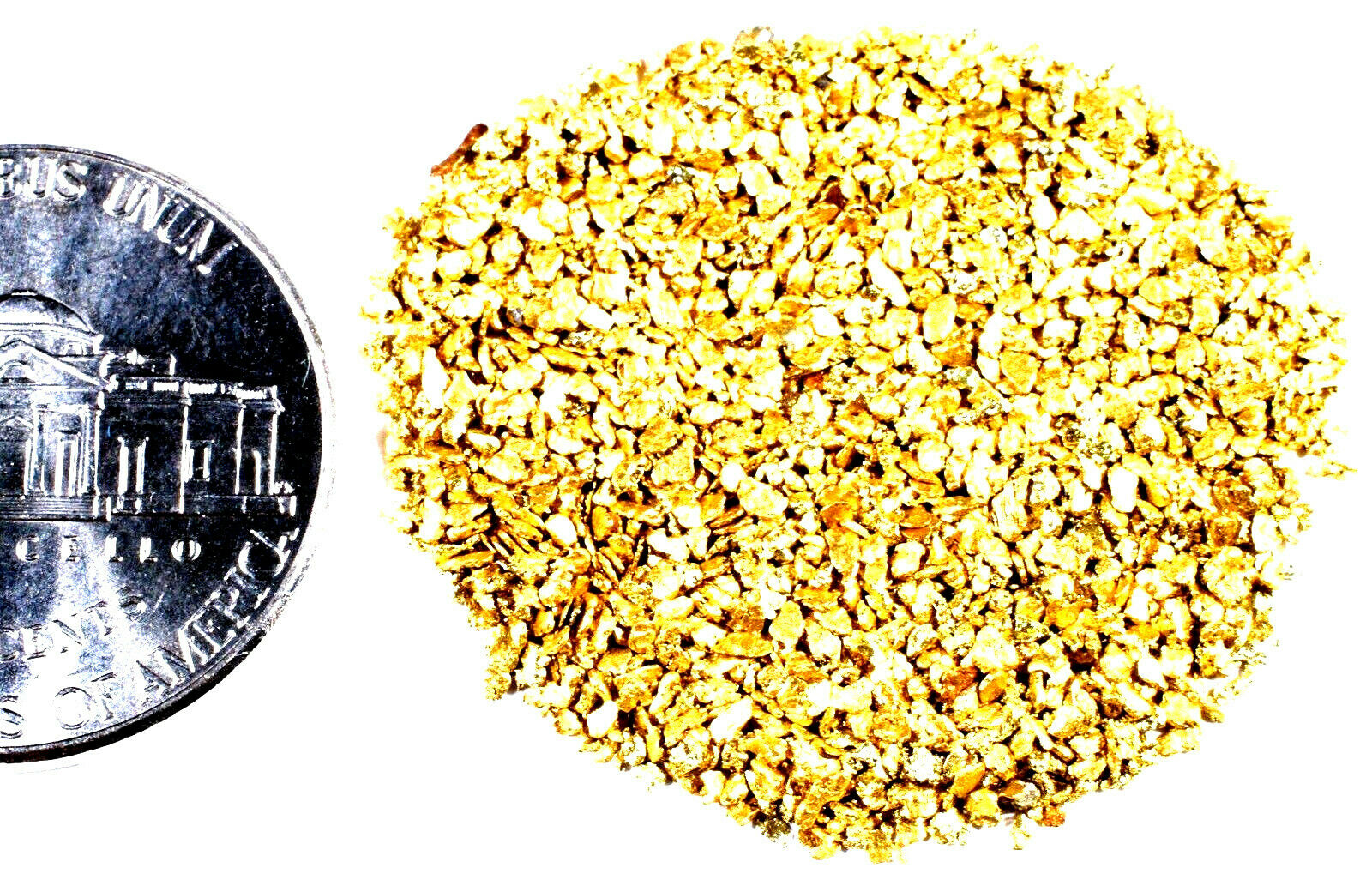 1/2 TROY OZ ALASKAN YUKON BC NATURAL PURE GOLD NUGGETS #30 MESH - Liquidbullion