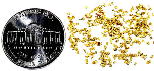 0.125 GRAMS ALASKAN YUKON BC NATURAL PURE GOLD NUGGETS #30 MESH - Liquidbullion