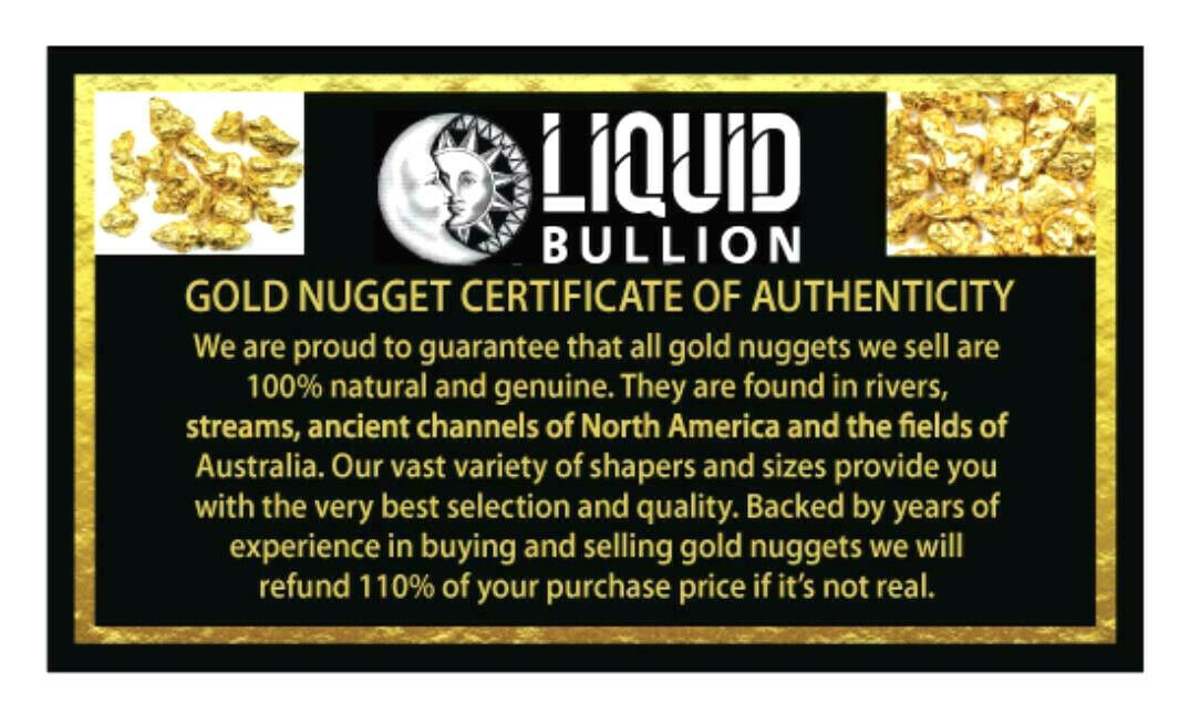 1.514 GRAMS ALASKAN YUKON BC NATURAL PURE GOLD NUGGET GENUINE (#N102)