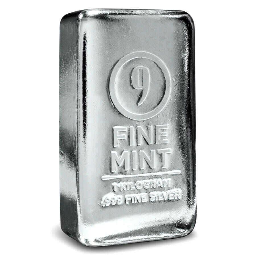 1 KILO .999 SILVER 9FINE MINT CAST-POURED BAR BU - Liquidbullion