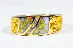 "Gold Quartz Ladies Ring ""Orocal"" RL731D10NQ Genuine Hand Crafted Jewelry - 14K Gold Casting - Liquidbullion"