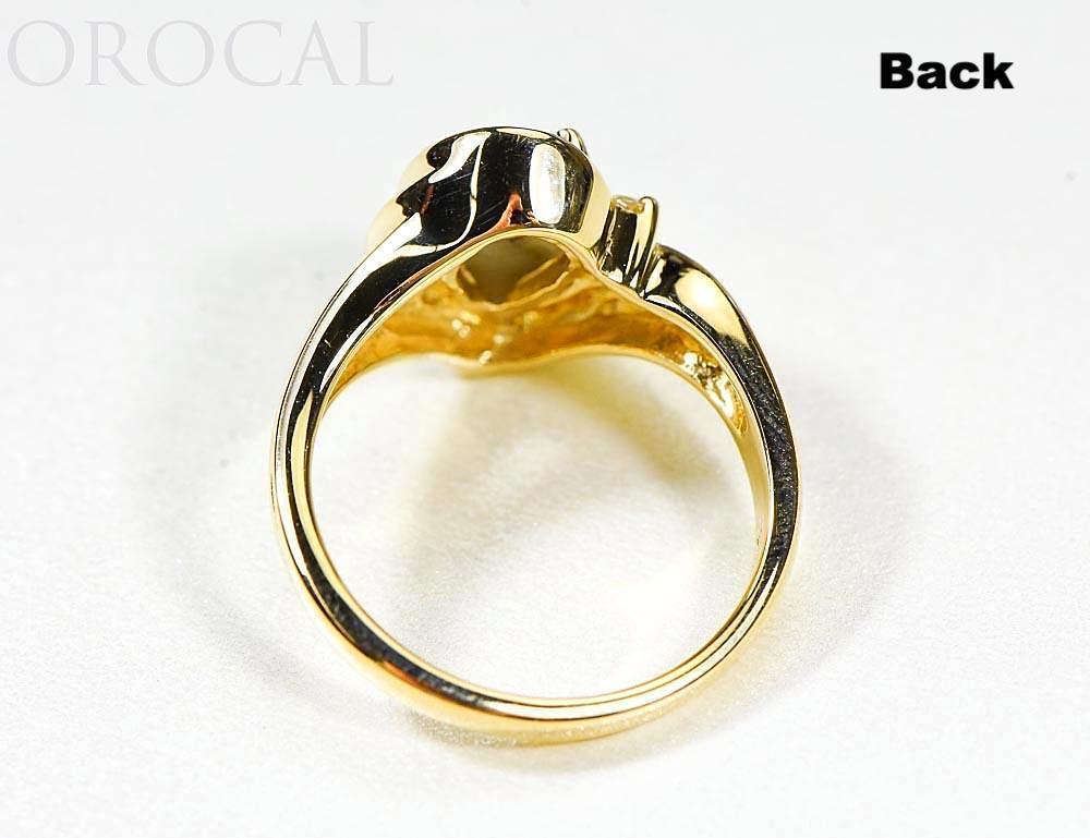 "Gold Quartz Ladies Ring ""Orocal"" RL739D3Q Genuine Hand Crafted Jewelry - 14K Gold Casting - Liquidbullion"