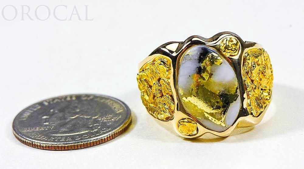 "Gold Quartz Ring ""Orocal"" RM654XLQ Genuine Hand Crafted Jewelry - 14K Gold Casting - Liquidbullion"
