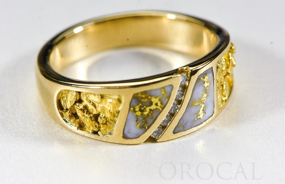 "Gold Quartz Ring ""Orocal"" RM731SD10NQ Genuine Hand Crafted Jewelry - 14K Gold Casting - Liquidbullion"