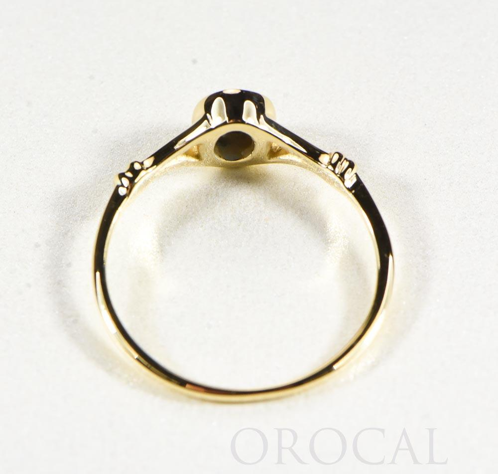 "Gold Quartz Ladies Ring ""Orocal"" RL725Q Genuine Hand Crafted Jewelry - 14K Gold Casting - Liquidbullion"
