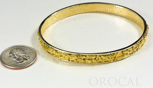 "Gold Nugget Bracelet ""Orocal"" BB8MM Genuine Hand Crafted Jewelry - 14K Gold Casting - Liquidbullion"