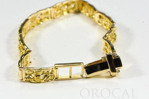 "Gold Nugget Bracelet ""Orocal"" BFFB6L10 Genuine Hand Crafted Jewelry - 14K Gold Casting - Liquidbullion"
