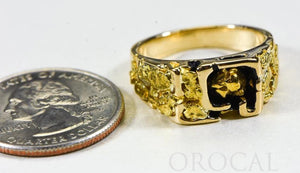 "Gold Nugget Men's Ring ""Orocal"" RM176 Genuine Hand Crafted Jewelry - 14K Casting - Liquidbullion"