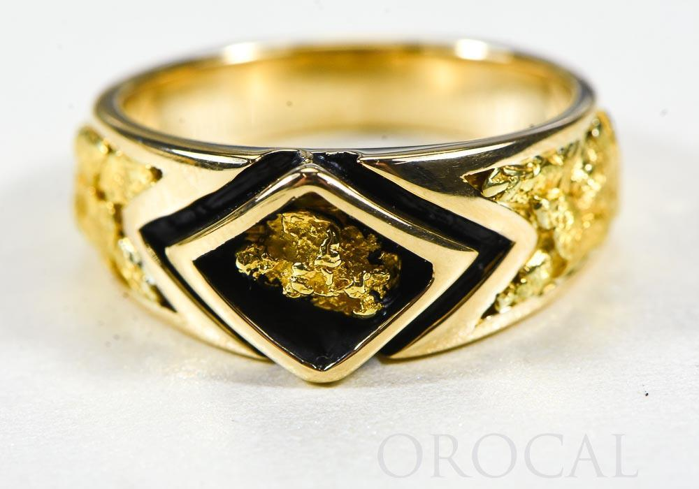 "Gold Nugget Men's Ring ""Orocal"" RMBS1 Genuine Hand Crafted Jewelry - 14K Casting - Liquidbullion"