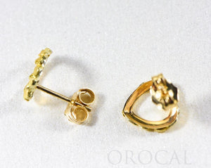 "Gold Nugget Earrings ""Orocal"" EHE360 Genuine Hand Crafted Jewelry - 14K Gold Casting - Liquidbullion"