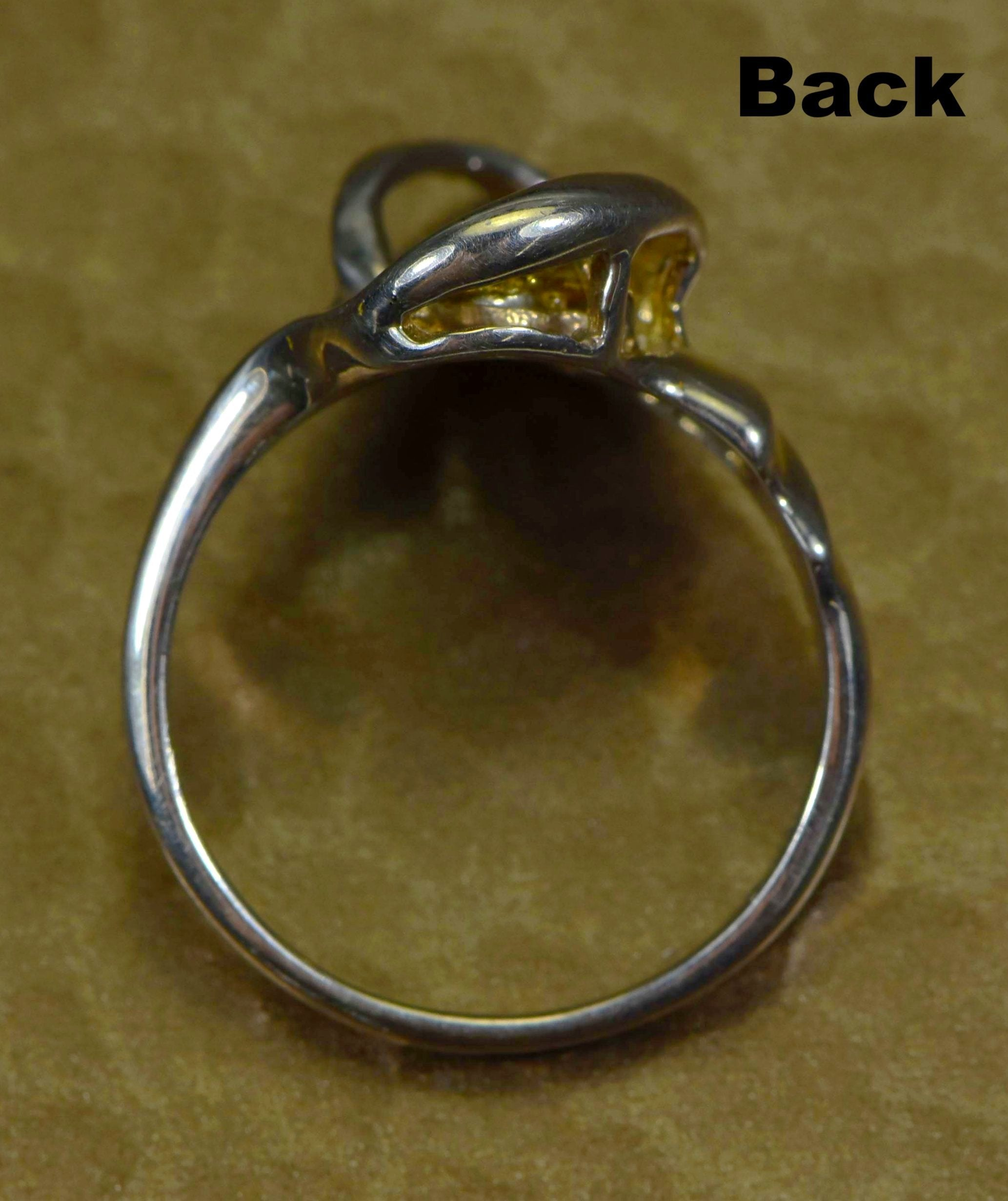 "Gold Nugget Ladies Ring ""Orocal"" RL784NSS Genuine Hand Crafted Jewelry - Liquidbullion"