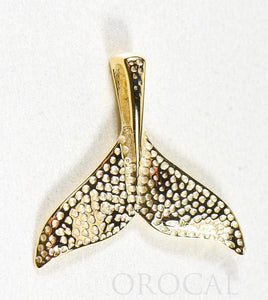 "Gold Quartz Pendant Whales Tail ""Orocal"" PWT43LQ Genuine Hand Crafted Jewelry - 14K Gold Yellow Gold Casting - Liquidbullion"