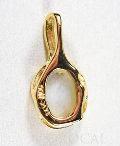 "Gold Quartz Pendant  ""Orocal"" PRL958Q Genuine Hand Crafted Jewelry - 14K Gold Yellow Gold Casting - Liquidbullion"