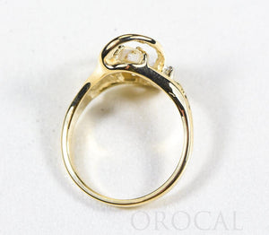 "Gold Quartz Ring ""Orocal"" RL784DQ Genuine Hand Crafted Jewelry - 14K Gold Casting - Liquidbullion"