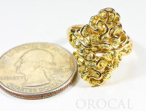 "Gold Nugget Ladies Ring ""Orocal"" RL239 Genuine Hand Crafted Jewelry - 14K Gold Casting - Liquidbullion"