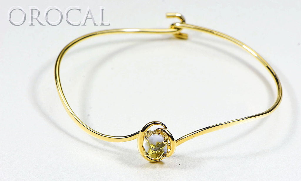 "Gold Quartz Bracelet ""Orocal"" BBWN805Q Genuine Hand Crafted Jewelry - 14K Gold Casting - Liquidbullion"