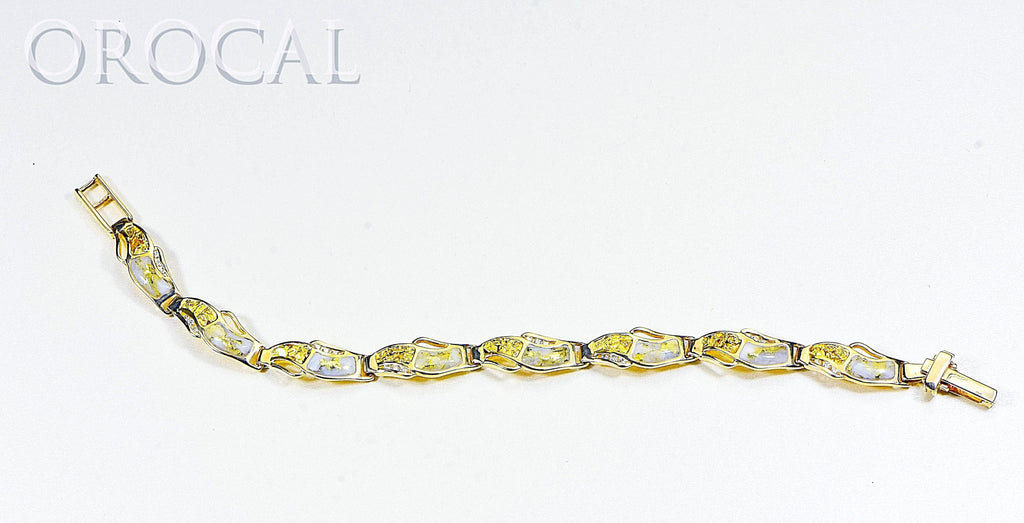 "Gold Quartz Bracelet ""Orocal"" BWB24D36NQ Genuine Hand Crafted Jewelry - 14K Gold Casting - Liquidbullion"