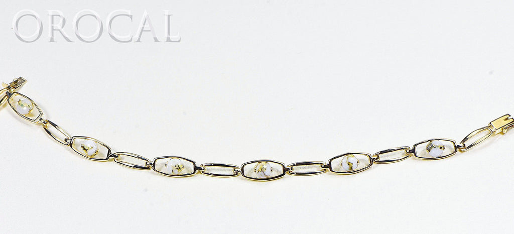 "Gold Quartz Bracelet ""Orocal"" BDLOV5LHQC89 Genuine Hand Crafted Jewelry - 14K Gold Casting - Liquidbullion"