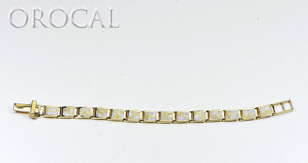 "Gold Quartz Bracelet ""Orocal"" B8MMH14LQ* Genuine Hand Crafted Jewelry - 14K Gold Casting - Liquidbullion"