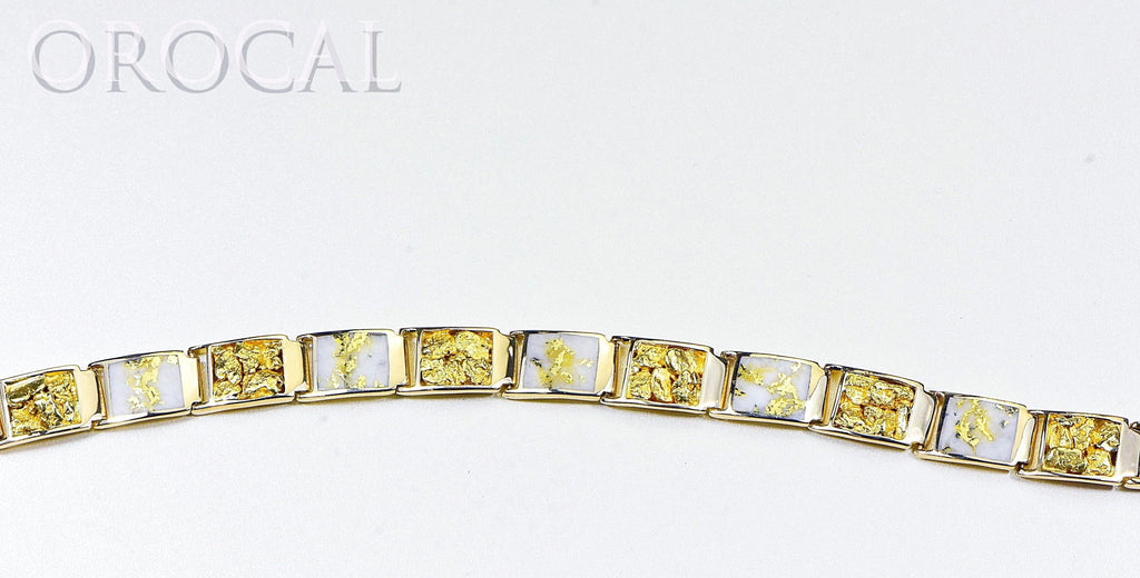 "Gold Quartz Bracelet ""Orocal"" B12MMOLQL11 Genuine Hand Crafted Jewelry - 14K Gold Casting - Liquidbullion"