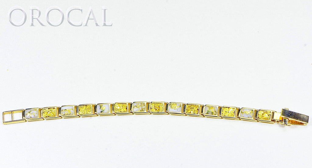 "Gold Quartz Bracelet ""Orocal"" B8MM7N7Q Genuine Hand Crafted Jewelry - 14K Gold Casting - Liquidbullion"