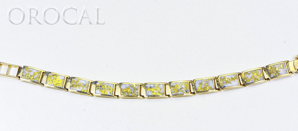 "Gold Quartz Bracelet ""Orocal"" B9.5MMH11LQ Genuine Hand Crafted Jewelry - 14K Gold Casting - Liquidbullion"