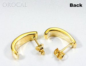 "Gold Quartz Earrings ""Orocal"" EH41NQ Genuine Hand Crafted Jewelry - 14K Gold Casting - Liquidbullion"