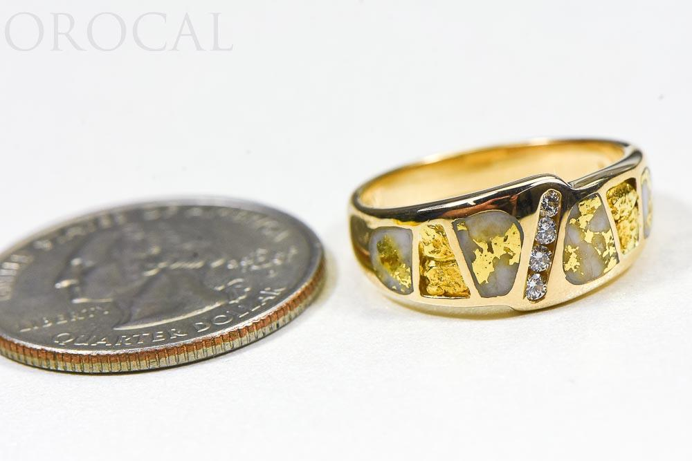 "Gold Quartz Ring ""Orocal"" RL882D8NQ Genuine Hand Crafted Jewelry - 14K Gold Casting - Liquidbullion"