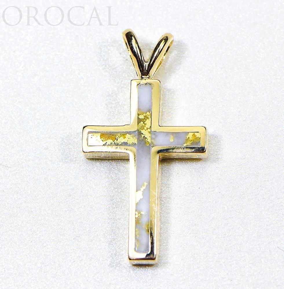 "Gold Quartz Pendant ""Orocal"" PCR9QX Genuine Hand Crafted Jewelry - 14K Gold Casting - Liquidbullion"