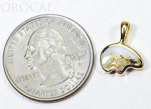 "Gold Quartz Pendant Bear ""Orocal"" PBR1SHQX Genuine Hand Crafted Jewelry - 14K Gold Casting - Liquidbullion"