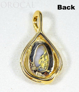 "Gold Quartz Pendant ""Orocal"" PN825QX Genuine Hand Crafted Jewelry - 14K Gold Yellow Gold Casting - Liquidbullion"