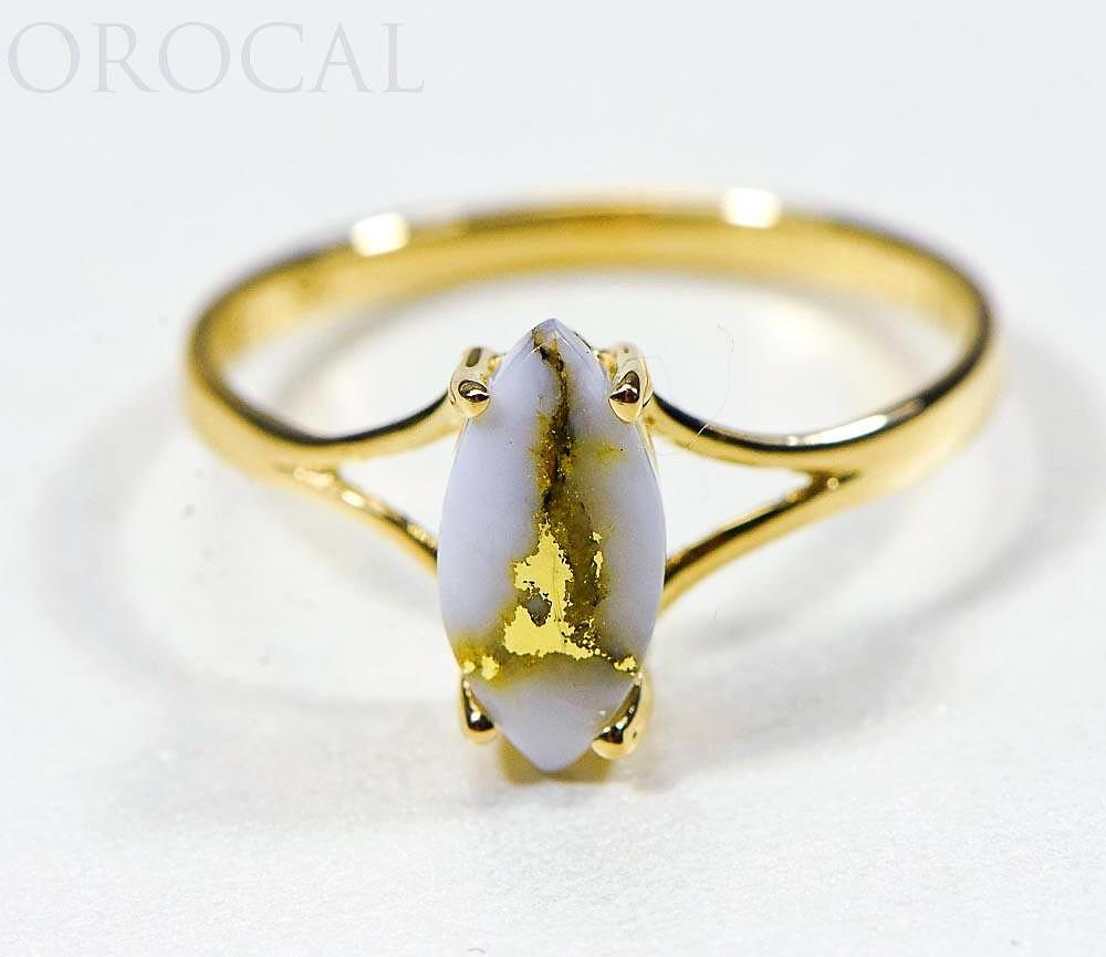 "Gold Quartz Ladies Ring ""Orocal"" RL645Q Genuine Hand Crafted Jewelry - 14K Gold Casting - Liquidbullion"